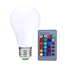 $enCountryForm.capitalKeyWord NZ - 3W 5W E2 RGB Bulb Lamp Remote Control Home Decoration Interior Spot Light Home LED Lighting Lampada With 24key IR Remote Control