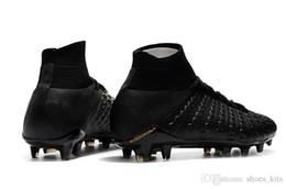 Hypervenom Phantom High Tops NZ - 100% Original Black Gold Soccer Cleats Hypervenom Phantom III DF FG Soccer Shoes High Ankle Neymar JR Top Quality Outdoor Football Boots