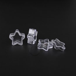 Empty nail boxEs online shopping - 5g Empty Star Design Clear Cosmetic Container Small Plastic Jar With Lid Sample Bottle Pot Box For Nail Art Powder