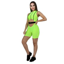 bandage jumpsuits Australia - Solid Woman Bodysuits Bandage Work Short Jumpsuit Fashion Sexy Rompers Short Women Sleeveless Zipper Up Rompers Dropshipping