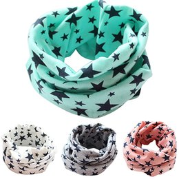 children camouflage hat Canada - Hot Cotton Stars Print Ring Scarves for children Warmer Scarf Autumn Winter Kids Boys Girls Neckerchief Collar Hat Mask