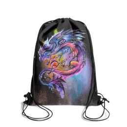$enCountryForm.capitalKeyWord Australia - Imagine band Dragons PsychedelicFashion sports belt backpack, design retro best adjustable string package, suitable for gym