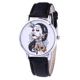 $enCountryForm.capitalKeyWord Australia - GENBOLI Women Quartz Watch Sexy Lady Tatto Print Litchi Pattern Leather Strap Round Dial Watches Exquisite Workmanship
