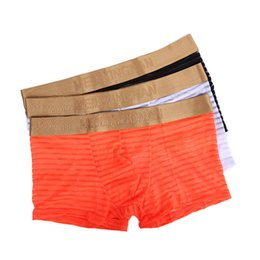 Underwear & Sleepwears Cool Summer Men Boxer Shorts Sexy Mens Underwear Male U Convex Pouch Low-rise Breathable Mesh Solid Man Underpants Superior Performance