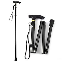 $enCountryForm.capitalKeyWord Australia - T-handleTrekking Poles Climbing Hiking Stick Aluminum Alloy Metal Folding Cane Walking Sticks Non Slip Rubber canes For Old Man
