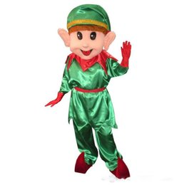 clown mascot costume adult UK - Christmas Elf Mascot Costume Lovely Christmas clown Cospaly Cartoon Character adult Halloween party costume Carnival Costume
