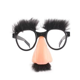 $enCountryForm.capitalKeyWord UK - New Mask Cute Black Big Nose Funny Glasses Halloween Mask Children Halloween Party Props Half Face Mask