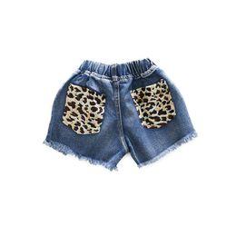 Jeans Shorts Girls UK - Girls shorts kids shorts hole girls jeans kids designer clothes girls pants Summer leopard print kids jeans toddler girl clothes A5868