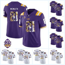 Wholesale Printed LSU Tigers th Thaddeus Moss Travin Dural Dillon Gordon Danielle Hunter Beriden Fehoko NCAA College Football Jersey