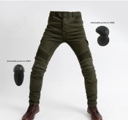 $enCountryForm.capitalKeyWord NZ - Motorcycle uglybros pants, Anti-falling Drop-resistant pants, with protective gear, riding jeans Four season Men's style Olive green