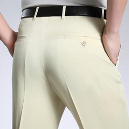 $enCountryForm.capitalKeyWord NZ - Summer Suit Pants Men Office Business Mens Trousers Formal Linen Pants Straight Loose Wedding Dress Big Size 42 44