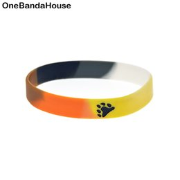 $enCountryForm.capitalKeyWord NZ - Hot Sell 1PC Fashion Bangle Bear Pride Silicone Wristband Segment Color Bracelet Great For Benefits Gift