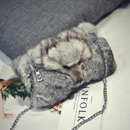 $enCountryForm.capitalKeyWord Australia - Angel2019 And Leather Fur Woman All-match Tide Fox Head Rabbit's Hair Small Bag Personality Warm Hand Package