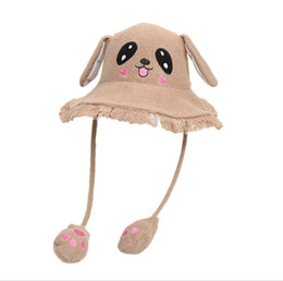China Fashion Fisherman's Cap A Kid with Long Ears and Rabbit Moving Pelvic Cap Sunshade Cap for Boys and Girls suppliers