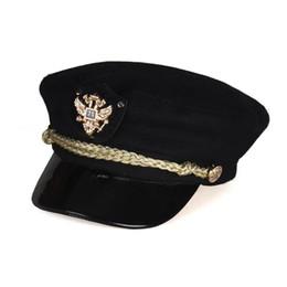 3c6b06f078c Autumn and winter woolen flat-top navy hat elegant casual cap newspaper hat  outdoor wild fashion hat