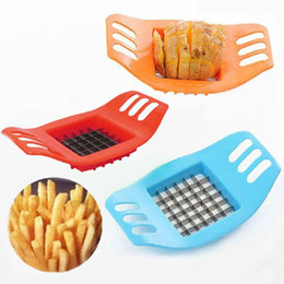 potato chips chopper Australia - Stainless Steel Potato Cutter French Fry Cutters Plastic Vegetable Potato Slicer Chopper Kitchen Cooking Tool Potato Chip Slicer AN2801