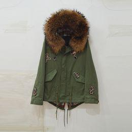 Armband Jacket Australia - Brown fur collar hood with new design womne coat Snake armband cool Fall jacket