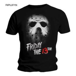 $enCountryForm.capitalKeyWord NZ - 2019 Fashion Black T Shirt FRIDAY 13th Slasher Horror MASK Jason Voorhees All Sizes Tee shirt