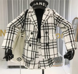Wholesale long knee woman winter coats for sale - Group buy Small Fragrant Tweed Shorts Suit Woman Autumn and Winter New Plaid Woolen Suit Blazer Coat Leisure Boots Shorts Two Piece Sets