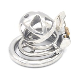 Anti Sex Belt Australia - Male Chastity Cage Stainless Steel with Removable Barbed Anti-off Ring Chastity Device Penis Lock Cage Sex Toys for Men G7-241F
