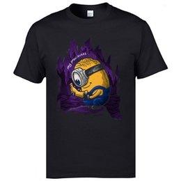 Değerli Minions Kawaii Tee Gömlek Komik Karikatür T Shirt Erkek% 100% Pamuk Erkekler Tees Serin En Kaliteli indirimde