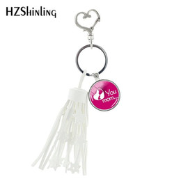 i glasses Australia - 2019 New I Love You Mom Heart Tassel Keychain Mother's Day Gifts Tassel Keyring Glass Handmade Jewelry