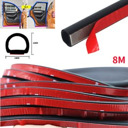car seal Australia - 4M 8M Big D Type Car Door Rubber Seal Filler Adhesive Noise Insulation Anti Dust Waterproof Weatherstrip Car Door Sealing Strip