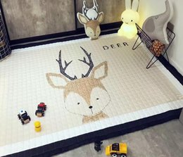 Discount padded baby play mat - Infant Play Mats Kids Crawling Carpet Floor Rug Baby Bedding Carpet Blanket Cotton Game Pad Children Room Decor