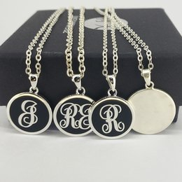 initial disc pendant necklace Australia - Tailor-Made Initial Letter 925 Sterling Silver Disc Pendant Necklace
