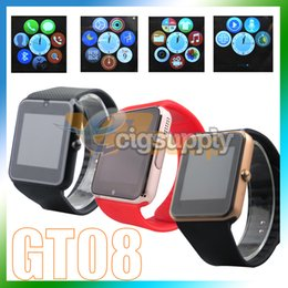 $enCountryForm.capitalKeyWord Australia - GT08 Smartwatch With SIM Card Slot Android Smart Watch for Samsung IOS Apple iPhone Smartphone Bracelet Bluetooth Watches PK DZ09 U8 ID115