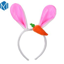 White Cosplay Ears UK - Lovely Big Rabbit Ears Headbands Women Plush Fluffy Cartoon Hair Bands Accessories For Girl Cosplay Party Soft Headwear
