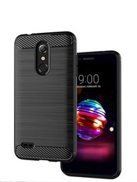 samsung k8 UK - Carbon Fiber Texture Slim Armor Brushed TPU CASE COVER FOR LG K8 K10 PLUS K11 PLUS X4 PLUS X5 2018 100PCS LOT