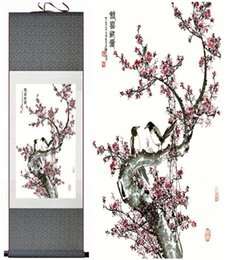 chinese flower decorations UK - Birds And Flower Painting Home Office Decoration Chinese Scroll Painting Flower Art Chinese Paintingprinted Painting2019061531