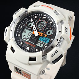 Discount g shock black red watch - 2017 White Color Fashion Digital Mens Watch S Shock G Style Analog Male Wristwatch Epozz Waterproof Dive Relogio Masculi