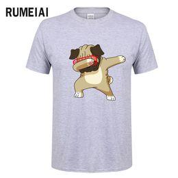 funny t shirts xxl 2019 - Men's T-shirts Fashion Animal Dog Print Hipster Funny t shirt Men Summer Casual street Hip-hop Tee shirt Male Tops