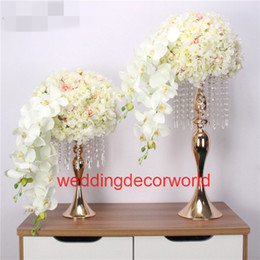 Decor Parties Australia - Customized wedding road lead props artificial table flower ball party hotel decor studio photo background silk flower ball stand decor0629
