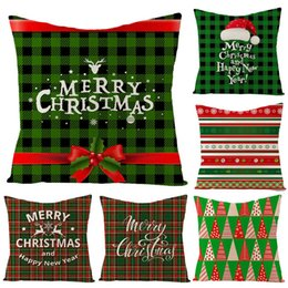 lighting trees decorative home Australia - 40# Christmas Tree Snowflake Stockings Cushion Cover Pillow Case Sofa Chair Decor Home decorative pillowcase