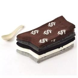 $enCountryForm.capitalKeyWord NZ - Wholesale- 1 pair New Arrival Men's Pair Dollar Signs Money Design Cotton Socks Dollar Design Socks Male Hot sale meia masculina