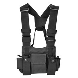 Case For Walkie Australia - Walkie-talkie Backpack Chest Pocket Universal Nylon Bag Case for Two Way Radio High Quality