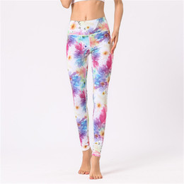 $enCountryForm.capitalKeyWord UK - Print High Waisted Leggings Womens Sport Yoga Cropped Pants Fitness Running Workout Dance Cropped Trousers Elastic Tights Ankle Length Pants