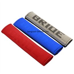 $enCountryForm.capitalKeyWord Australia - Racing Bride Universal Red Blue Gradation Hyper Fabric Car Seat Belt Cover Shoulder Pads