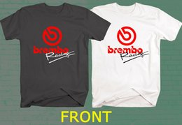 Race Tees Australia - New BREMBO RACING Brake System Logo Black & White T Shirt Tee Men Women Unisex Fashion tshirt Free Shipping Funny Cool Top Tee Black