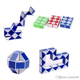 3d Snake Toy NZ - Mini Magic Cube New Hot Snake Shape Toy Game 3D Cube Puzzle Twist Puzzle Toy Gift Random Intelligence Toys Supertop Gifts