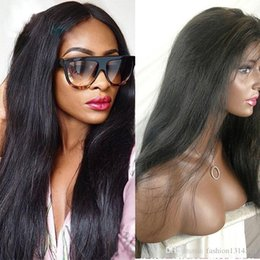 Silk Base Full Lace Wig Free UK - Silky Straight Silk Base Lace Front Human Hair Wig Brazilian Virgin Hair Silk Top Full Lace Wig With Baby Hairs Free shipping