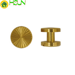 $enCountryForm.capitalKeyWord NZ - 1 pc 5mm Solid Brass Gold Chicago Screw Flat Head Nail Belt Stud Rivet Strap Fastener Assembling Bolt