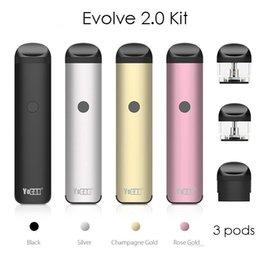 Toptan satış Orijinal yocan Evolve 2.0 E Sigara Kitleri Ile 3 Pod 650 mAh Ön Isıtma Için VV Pil Vape Kalem Buharlaştırıcı Için Kalın Yağ Ejuice Balmumu