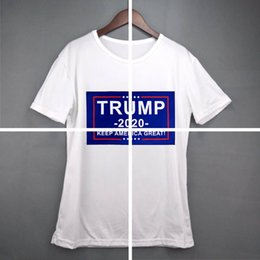 usa flag tees Canada - women Donald Trump Train 2020 T-Shirt O-Neck Short Sleeve Shirt USA Flag Keep American Great letter Tops Tee Shirt LJJA3834