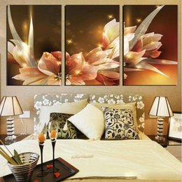 Golden Flowers Pictures Australia - 3 Pcs Luxury Golden Flowers Posters And Prints Home Decor Wall Art Picture Canvas Painting Cuadros Decocation No Frame