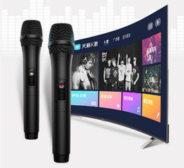 TCL accessories, KTV singing wireless dual microphone microphone.Free shipping. on Sale