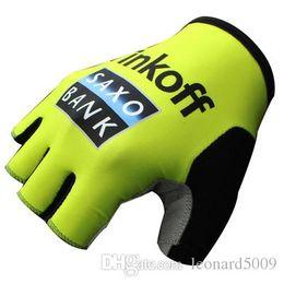 Vente en gros Tinkoff Quick Step Aipecin Loto IAM Sky Movistar Gants De Vélo Antidérapant Respirant Montagne Vélo De Route Golves Moitié Du Doigt Gant De Vélo